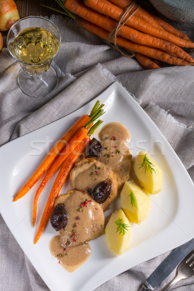 pork tenderloin in plum sauce Stock photo © Dar1930