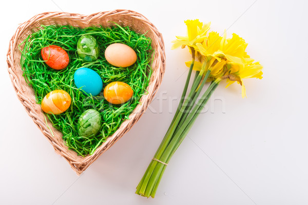 Eieren bloem gelukkig ontwerp verf ei Stockfoto © Dar1930