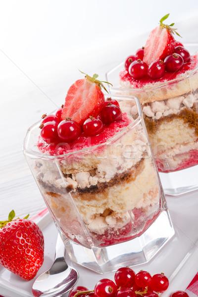 Strawberry - currant crumble Dessertt Stock photo © Dar1930