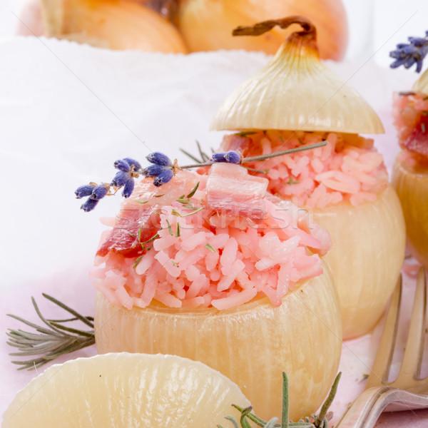 stuffed onions with pink rice Stock photo © Dar1930