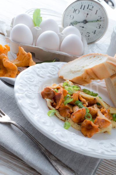have breakfast omelette with chanterelles Stock photo © Dar1930