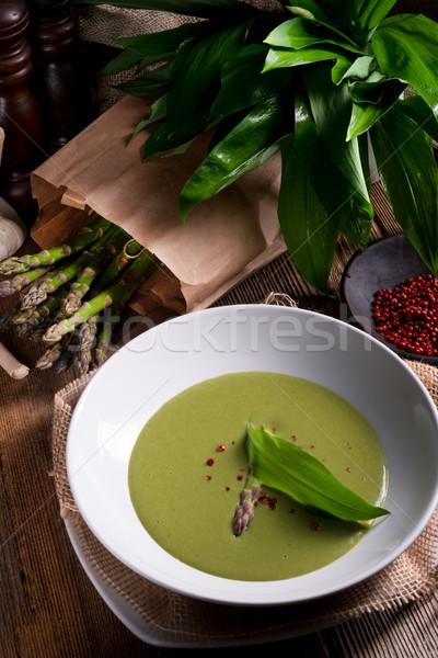 спаржа суп весны лес фон завода Сток-фото © Dar1930