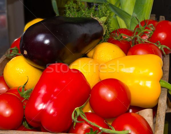 Páprica tomates comida folha jardim cozinha Foto stock © Dar1930