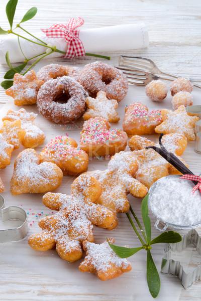 пончик здоровья шоколадом завтрак кольца белый Сток-фото © Dar1930
