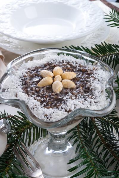 Сток-фото: фрукты · торт · молоко · мяча · пластина · черный