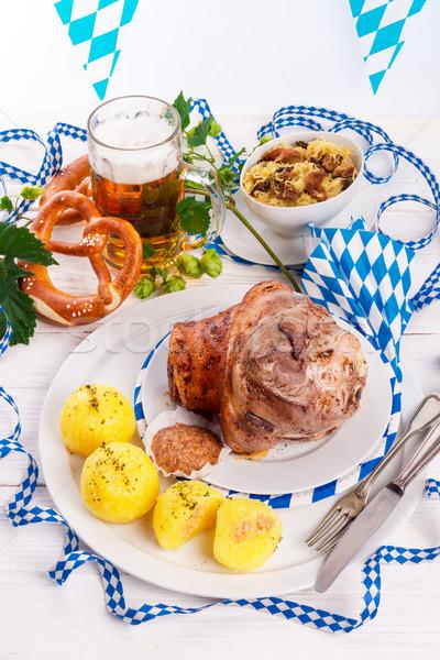 Domuz eti gıda restoran kırmızı et birahane Stok fotoğraf © Dar1930