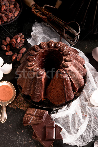 Chocolate cake Stock photo © Dar1930