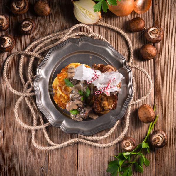 ızgara patates krep yaz yağ Stok fotoğraf © Dar1930