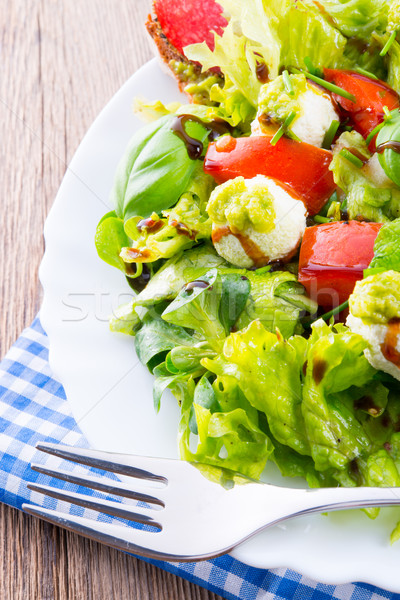 Vegetable salad with cheese Stock photo © Dar1930