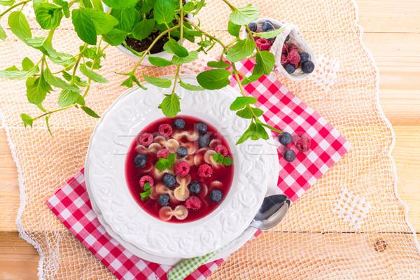 cold fruit soup Stock photo © Dar1930
