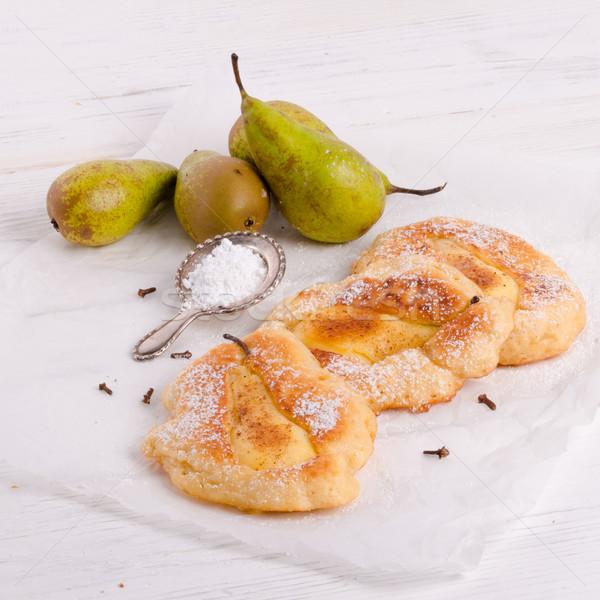 Racuchy – Polish pancakes with fruits Stock photo © Dar1930