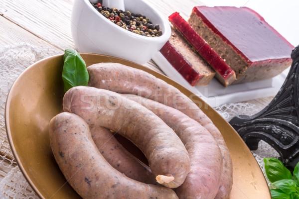 home-made sausage Stock photo © Dar1930