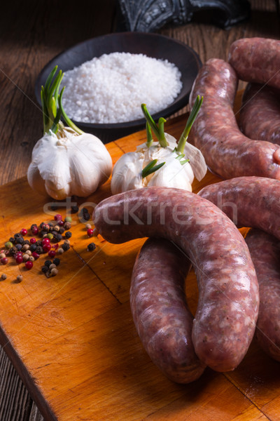 Home-made white sausage out pigs and calf meat  Stock photo © Dar1930