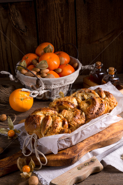 yeast dough cake with orange marmolade  Stock photo © Dar1930