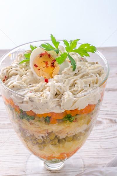 Polish vegetable salad Stock photo © Dar1930
