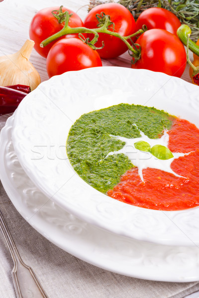 Creme sopa macarrão milho vegan Foto stock © Dar1930