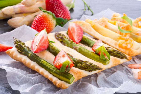 Asparagus tarte Stock photo © Dar1930