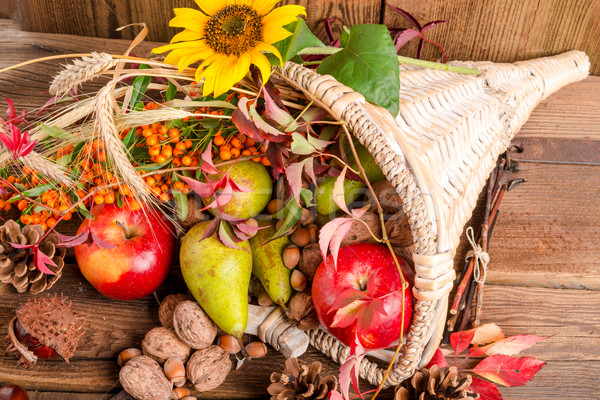 Bereket elma arka plan turuncu yaprakları kırmızı Stok fotoğraf © Dar1930