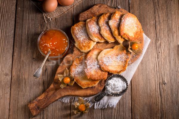 Gist pannenkoeken voedsel partij appel achtergrond Stockfoto © Dar1930