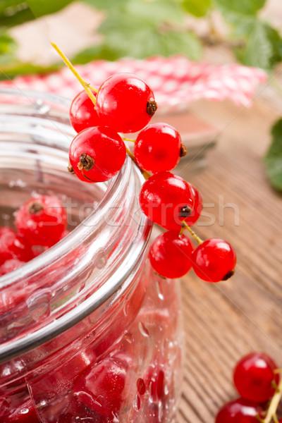 sugared red currant Stock photo © Dar1930