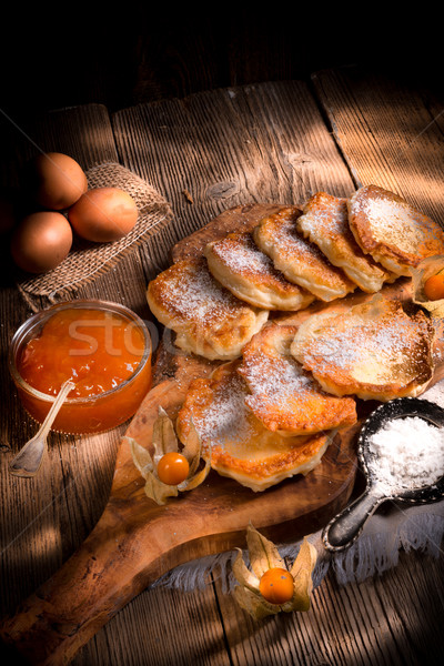 racuchy - Polish yeast pancakes Stock photo © Dar1930