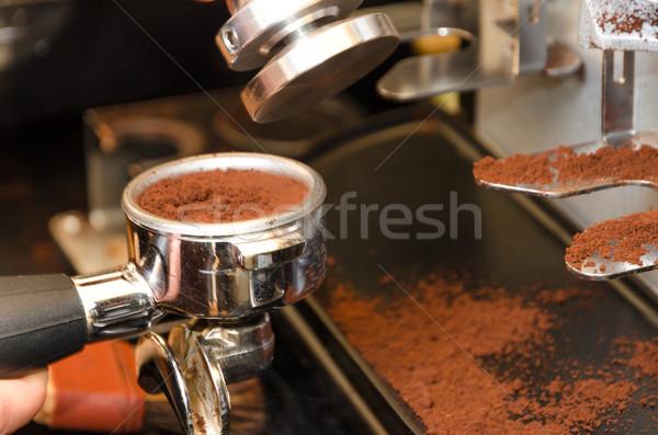 эспрессо машина бизнеса черный Кубок стали Сток-фото © Dar1930