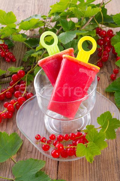 Ev yapımı frenk üzümü su buz gıda yaprak Stok fotoğraf © Dar1930