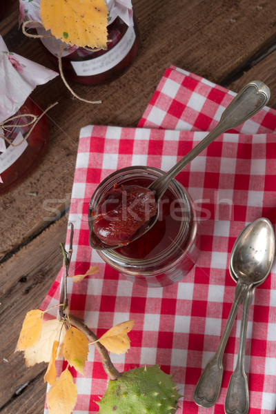 pickled Plum in red wine Stock photo © Dar1930
