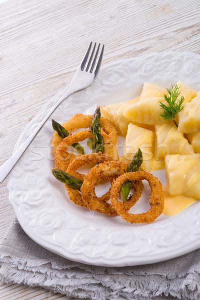 Cipolla anello bianco patate alimentare Foto d'archivio © Dar1930