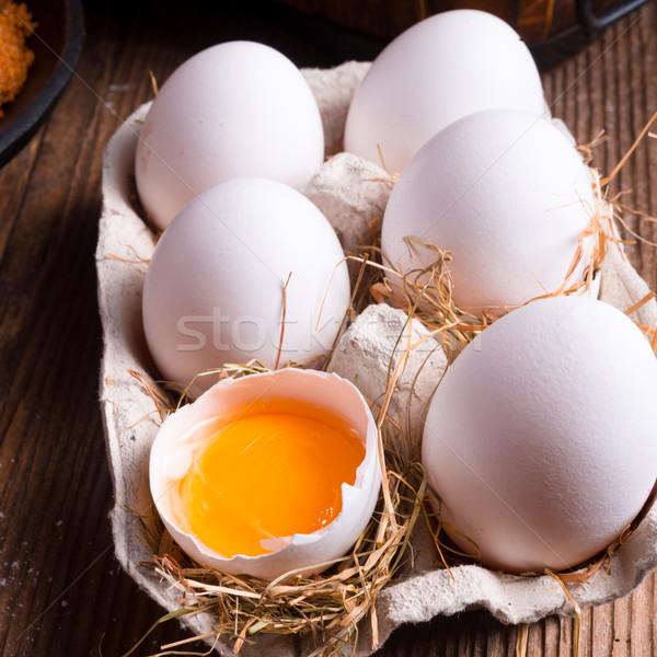 Free-range eggs Stock photo © Dar1930