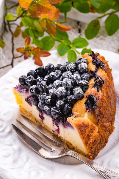 Cheesecake blueberries Stock photo © Dar1930