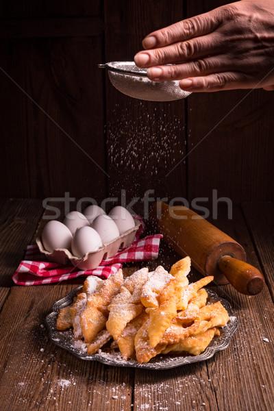 Angyalszárnyak étel boldog háttér csillag fehér Stock fotó © Dar1930