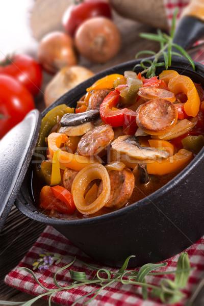 Húngaro comida verde vermelho tomates cenoura Foto stock © Dar1930