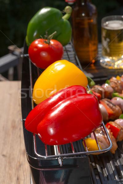 Zomer grill partij voedsel brand koken Stockfoto © Dar1930