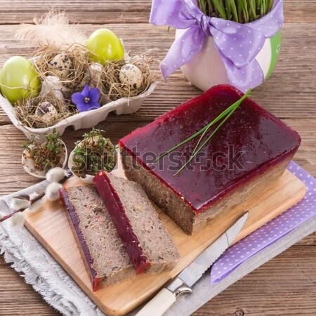 Torta cogumelos verde jantar Foto stock © Dar1930