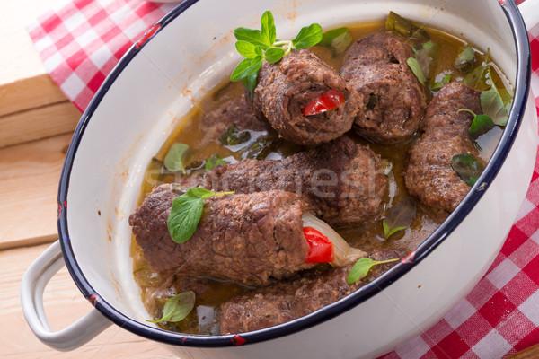 Marhahús étel tehén étterem vacsora hús Stock fotó © Dar1930