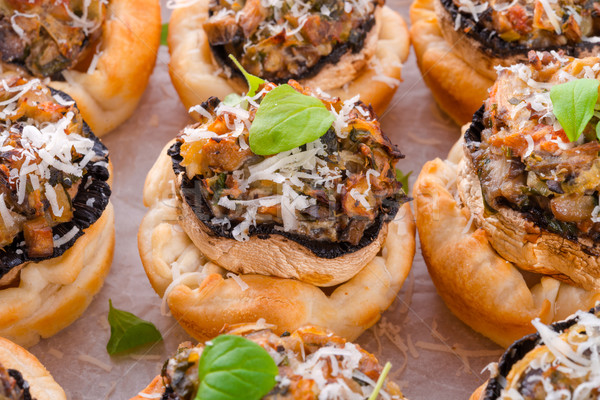Champignons with puff pastry Stock photo © Dar1930