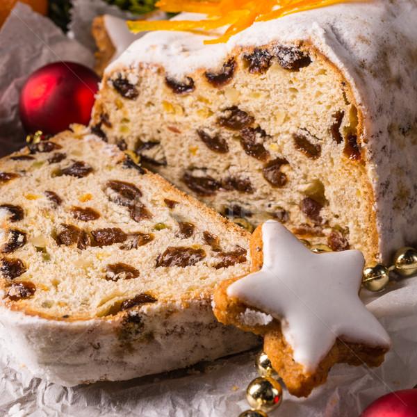 Рождества оранжевый фрукты хлеб красный десерта Сток-фото © Dar1930
