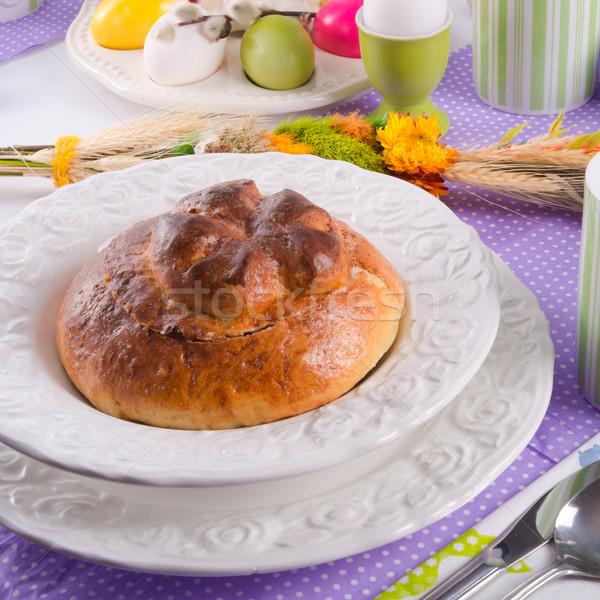 кислый рожь суп яйцо хлеб обеда Сток-фото © Dar1930