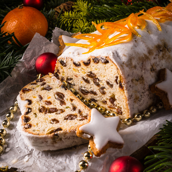 Christmas oranje vruchten brood Rood dessert Stockfoto © Dar1930