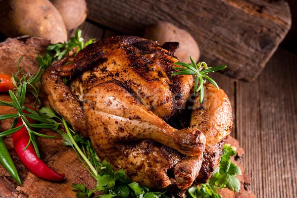 Baked Chicken Stock photo © Dar1930