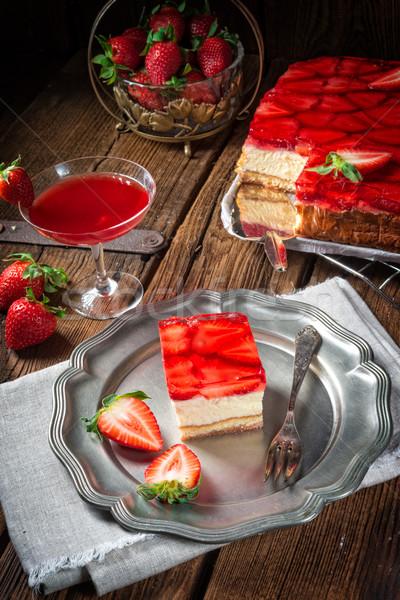 Photo stock: Fraise · alimentaire · feuille · fruits · dessert
