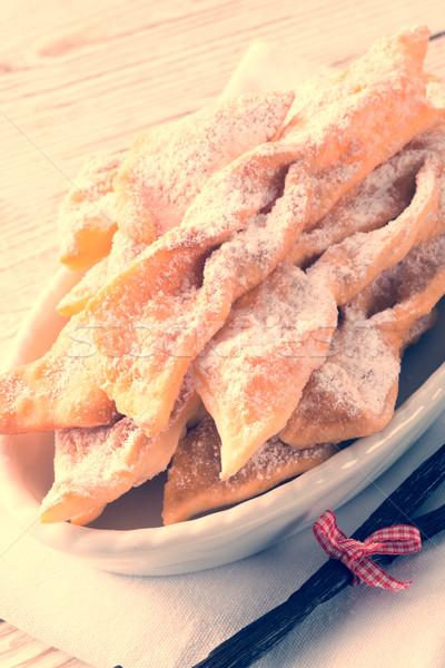 Lejek ciasto vintage stylu tłuszczu deser Zdjęcia stock © Dar1930