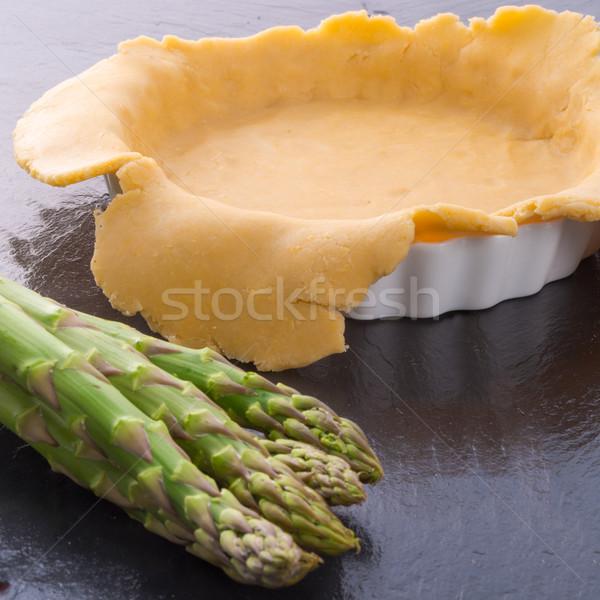 Vert tarte préparation alimentaire gâteau fromages Photo stock © Dar1930