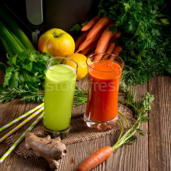 Légumes alimentaire verre santé métal Photo stock © Dar1930