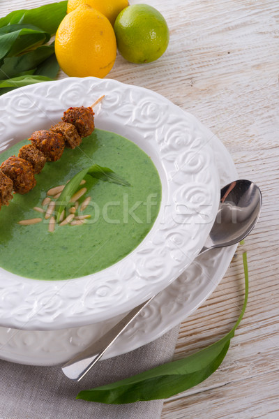 wild garlic soup Stock photo © Dar1930