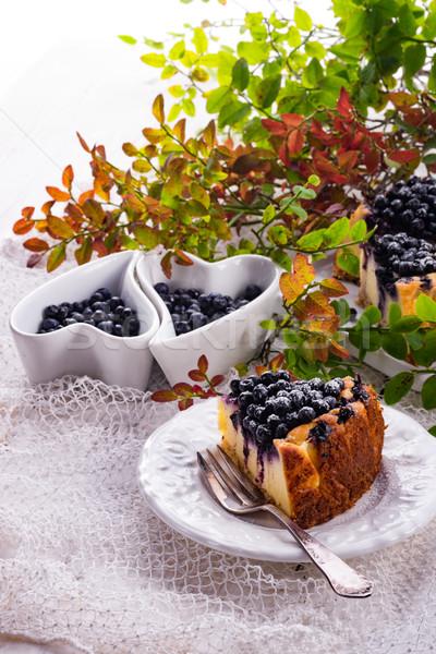 Foto d'archivio: Cheesecake · mirtilli · alimentare · frutta · sfondo · ristorante