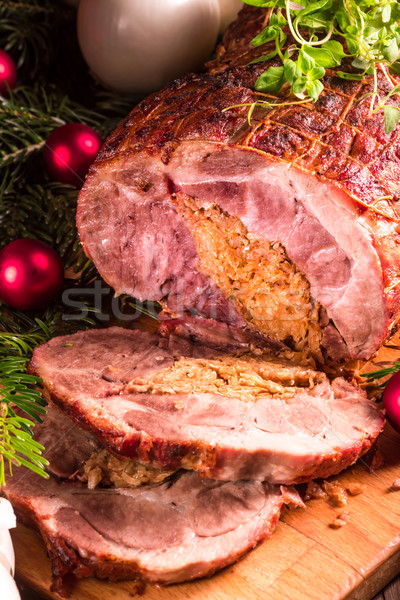Roast with onion stuffing Stock photo © Dar1930