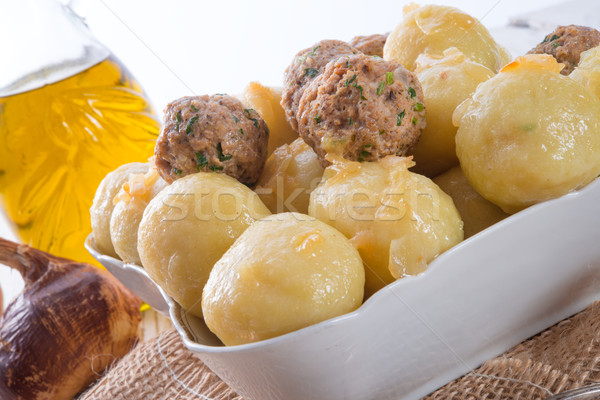 dumplings with meatball Stock photo © Dar1930