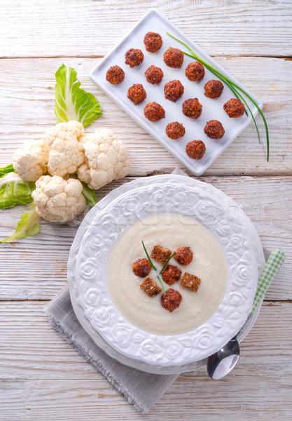 cauliflower cream soup Stock photo © Dar1930